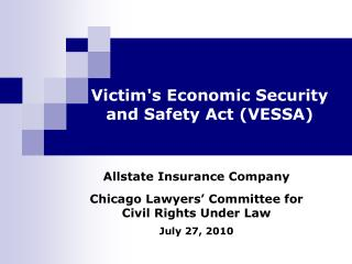 Victim's Economic Security and Safety Act (VESSA)