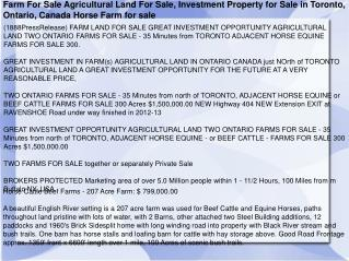 Farm For Sale Agricultural Land For Sale, Investment Propert