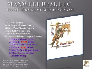 Maxwell RPM, LLC Consumer Credit Repair Database