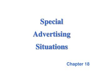 Special  Advertising  Situations