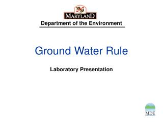 Ground Water Rule