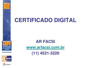 CERTIFICADO DIGITAL