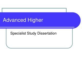 advanced higher classical studies dissertation