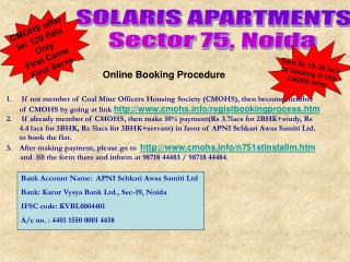 SOLARIS APARTMENTS Sector 75, Noida