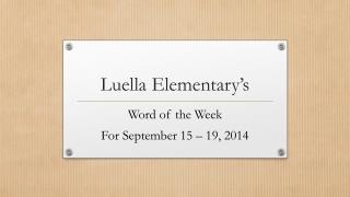 Luella Elementary's