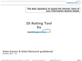 Data Owner & Data Steward guidebook October 2011 – V1