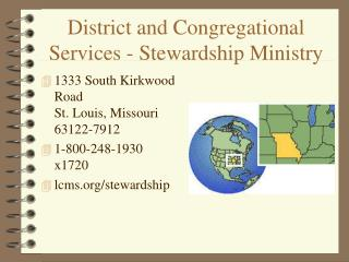 District and Congregational Services - Stewardship Ministry