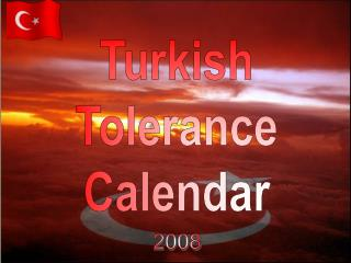 Turkish Tolerance Calendar
