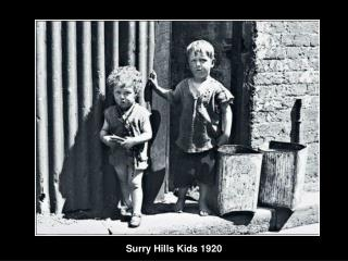 Surry Hills Kids 1920