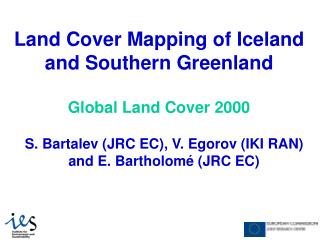 Land Cover Mapping of Iceland and Southern Greenland Global Land Cover 2000