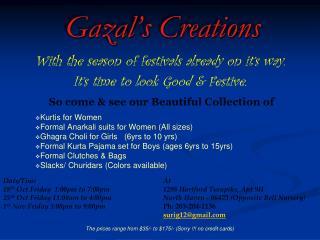 Gazal's Creations