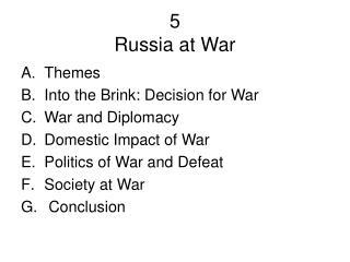 unit 8 impact of war