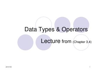 Data Types & Operators