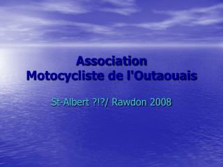 Association  Motocycliste de l'Outaouais