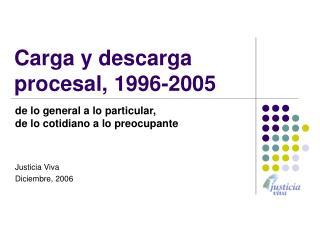 Carga y descarga procesal, 1996-2005
