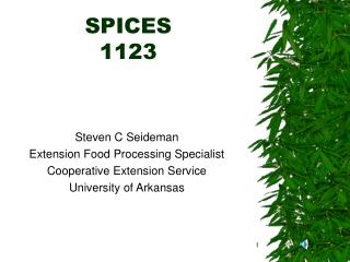 SPICES 1123