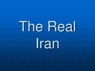 The Real Iran