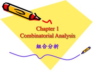 Chapter 1 Combinatorial Analysis
