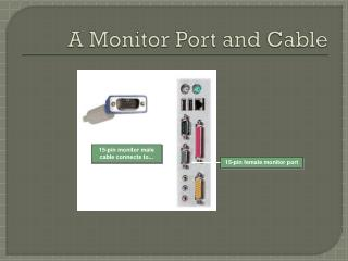 A Monitor Port and Cable