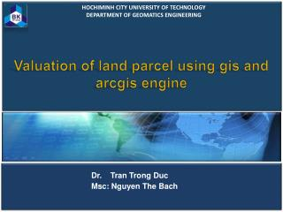 Valuation of land parcel using  gis  and  arcgis  engine