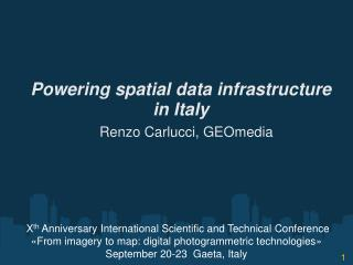 Powering spatial data infrastructure in Italy