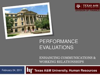 Performance  EvaluationS Enhancing Communications & Working Relationships