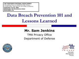 Data Breach Prevention 101 and Lessons Learned