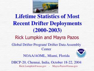Lifetime Statistics of Most Recent Drifter Deployments (2000-2003)