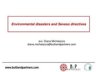 Environmental disasters  and Seveso  directives
