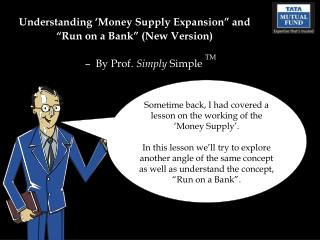 "Understanding 'Money Supply Expansion"" and ""Run on a Bank"" (New Version)"