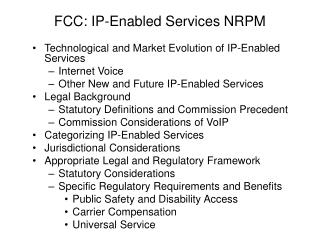FCC: IP-Enabled Services NRPM