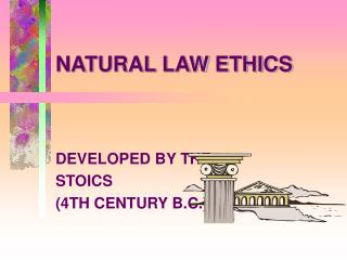 NATURAL LAW ETHICS