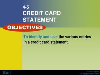 4-5 CREDIT CARD STATEMENT