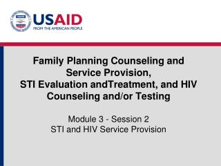A Note about Slides for Training in STIs and HIV