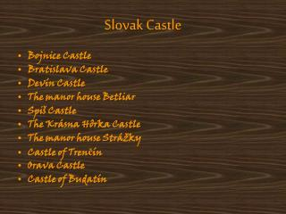Slovak Castle