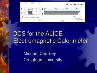 DCS for the ALICE Electromagnetic Calorimeter