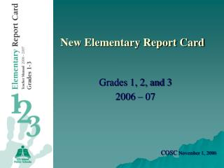 New Elementary Report Card
