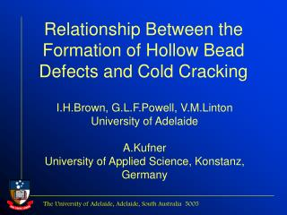 Relationship Between the Formation of Hollow Bead Defects and Cold Cracking