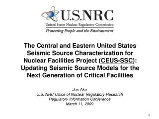 The Central and Eastern United States Seismic Source Characterization for Nuclear Facilities Project CEUS-SSC: Updating