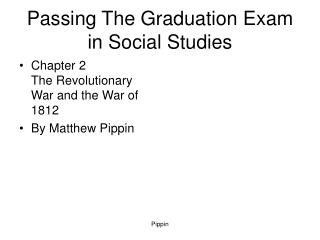 Passing The Graduation Exam in Social Studies
