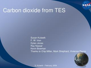 Carbon dioxide from TES