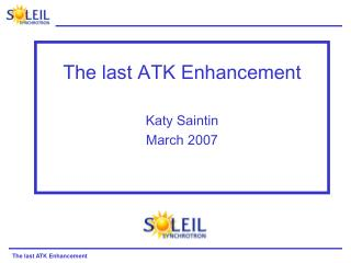 The last ATK Enhancement Katy Saintin March 2007
