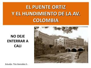 EL PUENTE ORTIZ Y EL HUNDIMIENTO DE LA AV. COLOMBIA