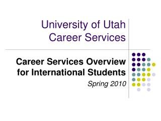 University of Utah Career Services