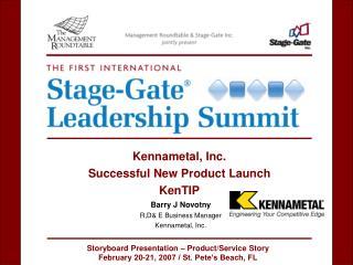 Barry J Novotny R,D& E Business Manager Kennametal, Inc.