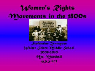 Women's Rights Movements in the 1800s