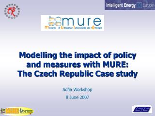 Modelling the impact of policy and measures with MURE:  The Czech Republic Case study