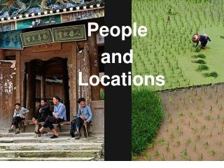 People and locations