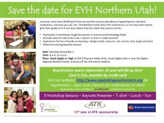 Save the date for EYH Northern Utah!