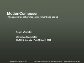 MotionComposer - the search for coherence in movement and sound